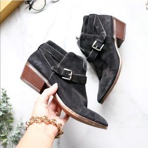 SAM EDELMAN Patrisha Boots Black Zip Ankle Booties